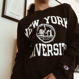 NYU CHAMPION SWEATER